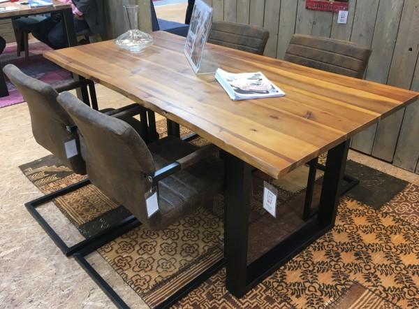 Esstisch Tisch Baumkante 160x85cm Akazie cognac