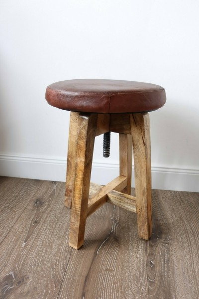 Drehhocker Hocker Sligo brown Mangoholz Neu