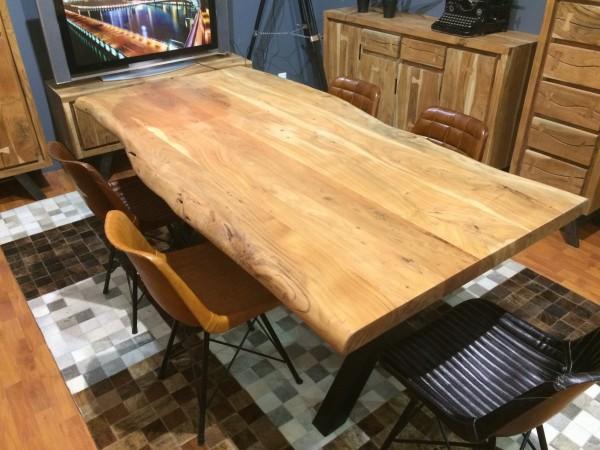Esstisch Tisch Akazie massiv 180x100cm 56mm Tischplatte NEU