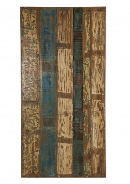 Tischplatte 160x85 cm Altholz bunt lackiert