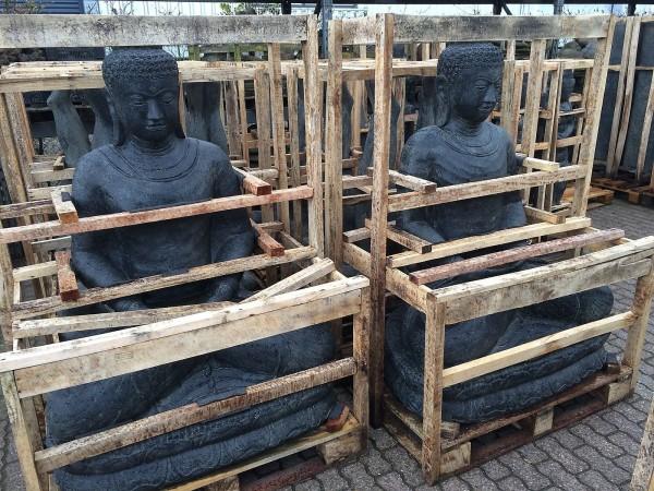 Buddha Skulptur Lava Guss 200cm Schwere Qualität Neu