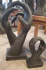 Unity Hands Skulptur Hände Lava Guss 100cm Schwere Qualität Neu