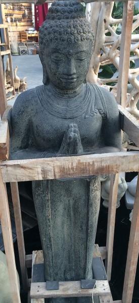 Buddha Skulptur Lava Guss 100cm Neu