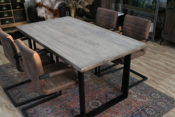 Esstisch Tisch 160x90cm Balkeneiche ice grey Neu