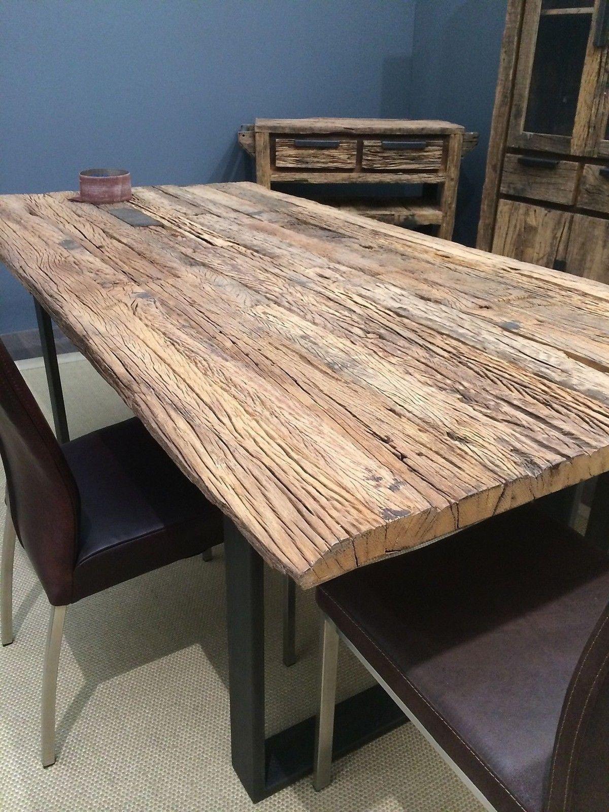 Esstisch Tisch Thar 160x90cm Altholz Massiv Industrie Design Sit NEU Lagerware