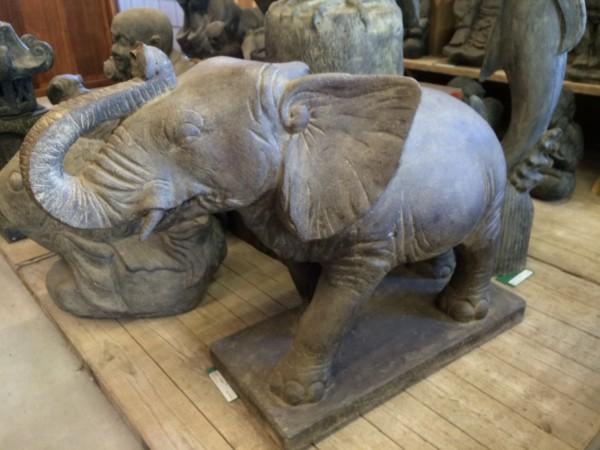Elefant Brunnen Tier Skulptur Steinfigur Neu