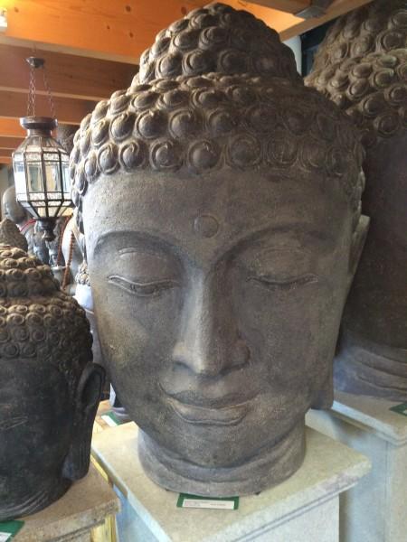 Buddha Kopf Skulptur Steinfigur Asien 75cm