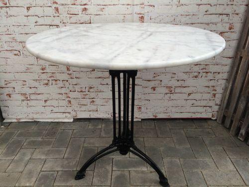 bistrotisch outdoor gastro mit marmor und gusseisen tisch 80cm neu ebay. Black Bedroom Furniture Sets. Home Design Ideas
